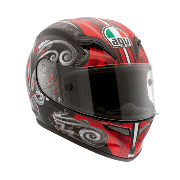 Picture of AGV Race Grid Stigma Black/Red
