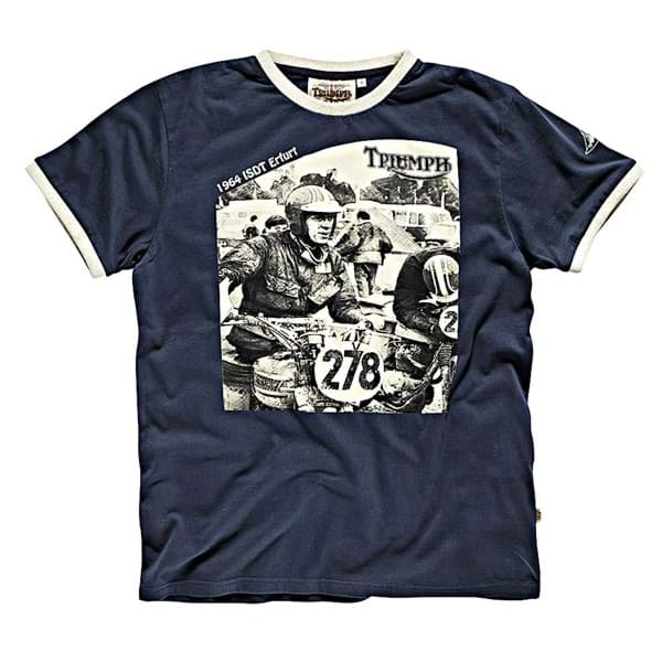 Picture of Triumph - Herren McQueen 64 ISDT Sketch T-Shirt