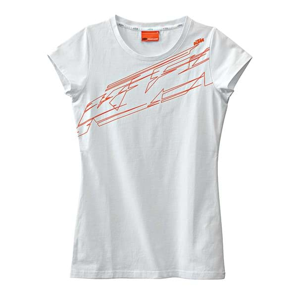 Picture of KTM - Girls Logo Tee White