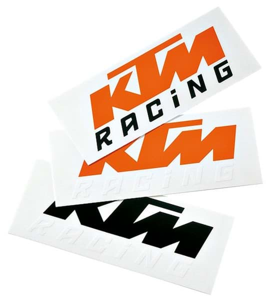 Bild von KTM - Logo Sticker (Black / White) One Size