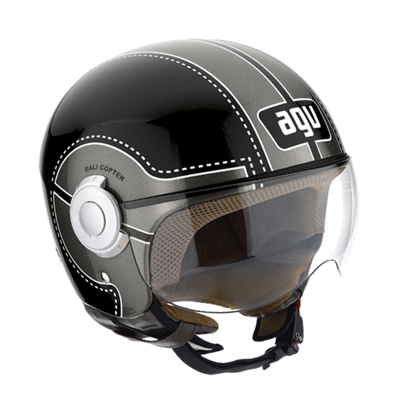 Bild von AGV City Bali Copter Chopper Black/Gunmetal