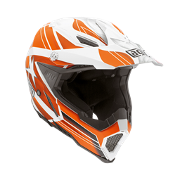 Picture of AGV Off-Road AX-8 Evo Flagstars White/Orange