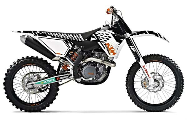 Picture of KTM - Plastik Kit Weiss