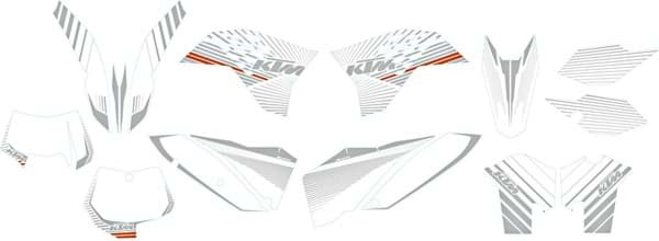 "Picture of KTM - Chrom Grafik Kit ""Weiss"""