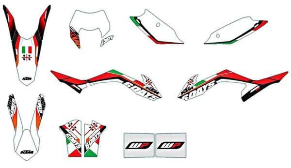 "Bild von KTM - Six Days Grafik Kit ""Italien"" EXC ""14>"