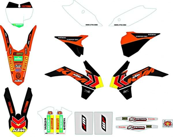 "Picture of KTM - Factory Grafik Kit SX ""13-""14"