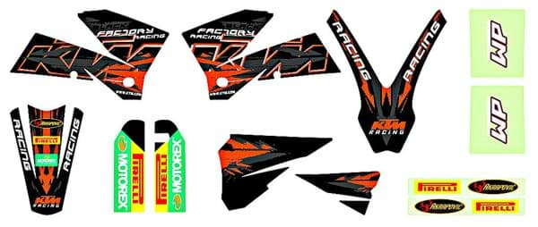 "Picture of KTM - Racing Graphic Kit ""Schwarz"""