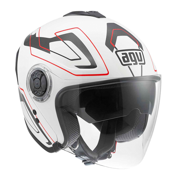 Picture of AGV City Fiberlight Future White/Grey/Red