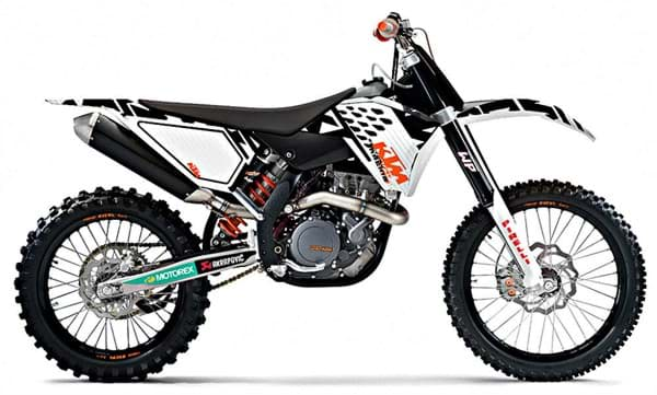 "Picture of KTM - Racing Grafik Kit Weiss ""08-""11"