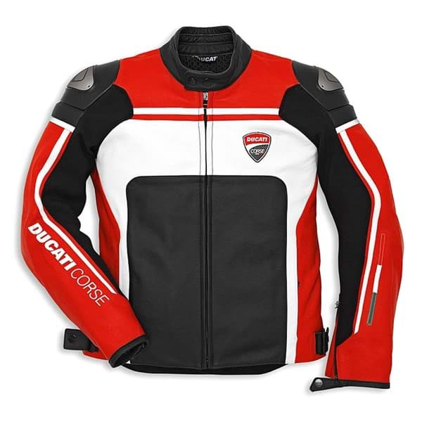 Picture of Ducati corse leather jacket 14 Dainese red black men