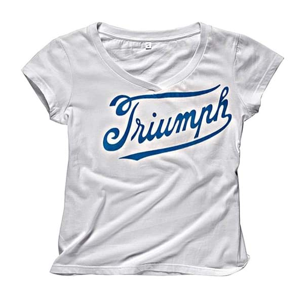 Picture of Triumph - Damen Sports Script Logo Weiss T-Shirt