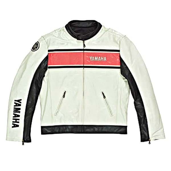 Picture of Yamaha Classic Casual Leather Jacket - Broken White