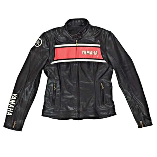 Picture of Yamaha Classic Casual Leather Jacket - Black