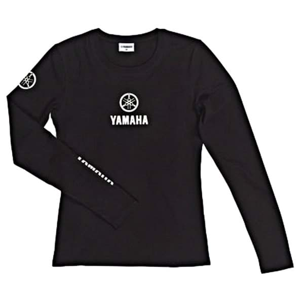 Bild von Yamaha Damen Classic T-shirt Long Sleeve - Black