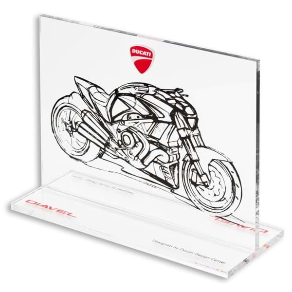 Picture of Ducati Diavel memorabilia plexiglass